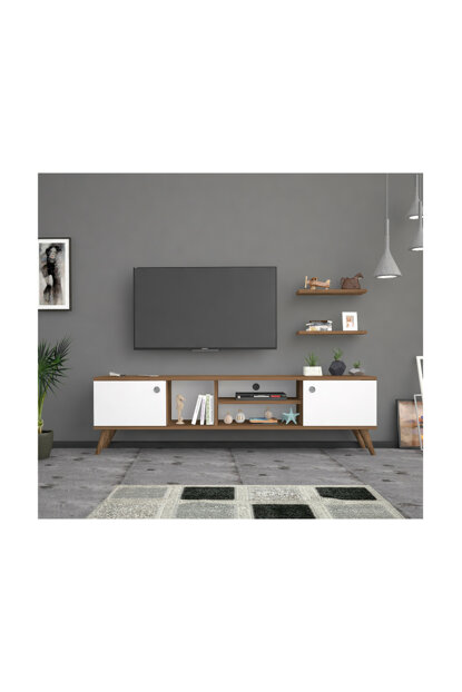 Bena Furniture Benan Walnut White 180 Cm Tv Stand Tv Unit BENA180HB