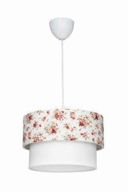 Cake Single White Floral Patterned Chandelier 601 0282 27 099