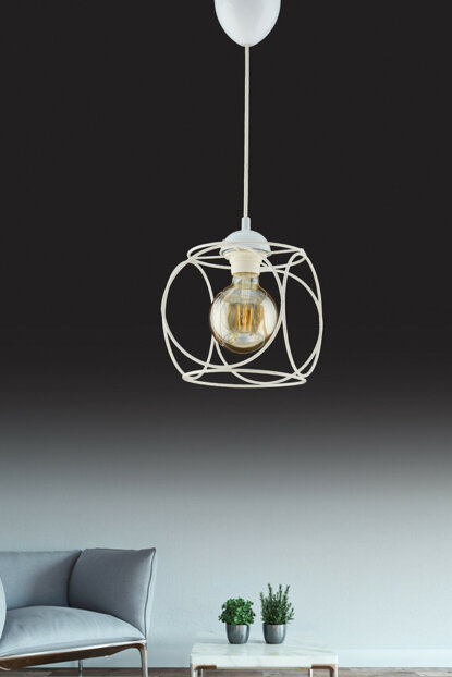Pour Single Pendant Lamp White ASY138