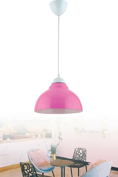 Colore Single Glass Pendant Lamp (Pink) ASY240