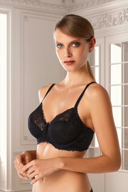 Women's Black Underwire Rather Bra 7003