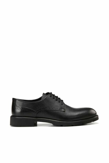 Genuine Leather Black Men Classic Shoes 02AYH138380A100