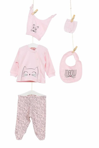 Powder Baby Girl Hospital Outlet 5'Li Layette Set AZZ005231