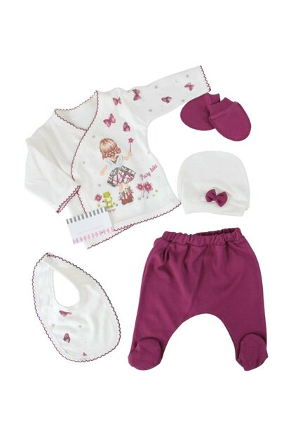 Purple Baby Girl Butterfly Butterfly Plum 5'Li Hospital Outlet AF9017M