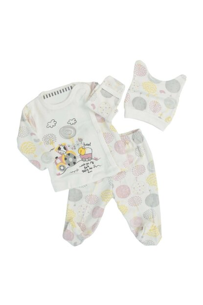 White Baby Girl Cow Tractor Yellow 3-Way Hospital Exit AF90139S