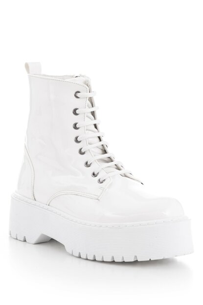 White Patent Leather Women Boots SNZ-1