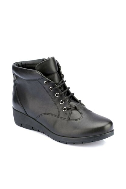 Women's Genuine Leather Black Boots 000000000100331122