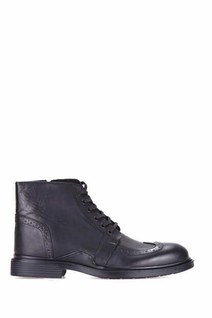 Genuine Leather Black Men Boots 18WFD331818