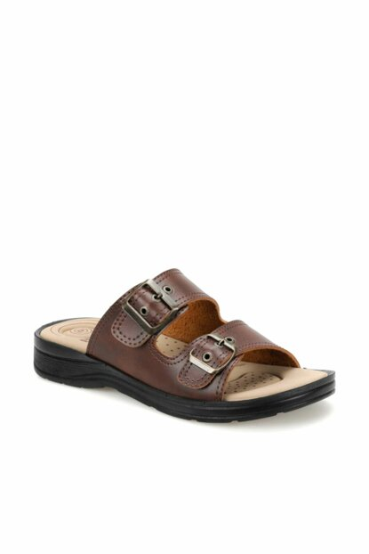 Brown Men's Slippers 000000000100383210