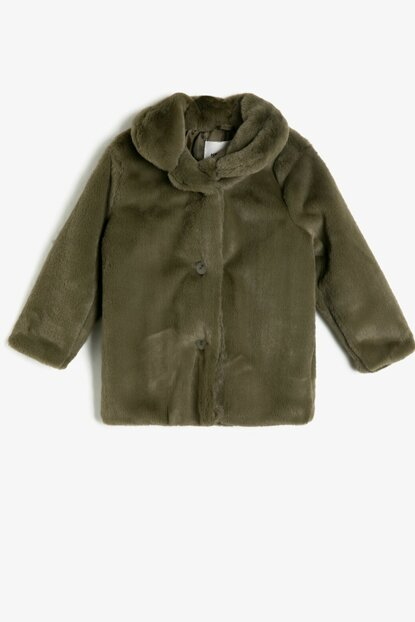 Green Girls Coat 0KKG27455AK