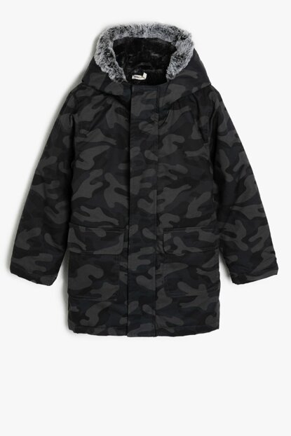 Blue Patterned Boy Coat 9KKB06126OW