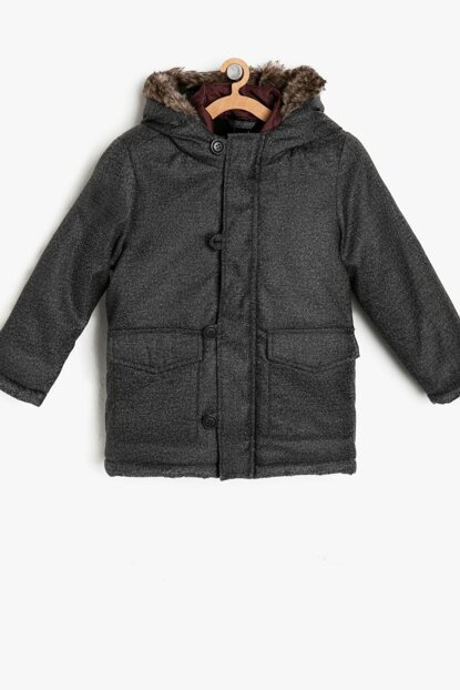 Anthracite Boy Coat 9KKB26530OW