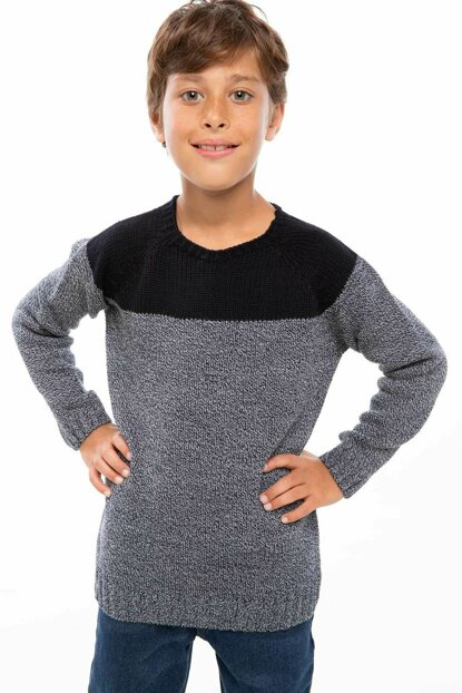 Navy Blue Boys' Crew Neck Sweater I9105A6.18AU.NV64