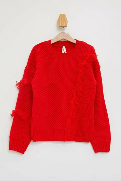 Tasseled Sweater Sweater L3840A6.19AU.RD44