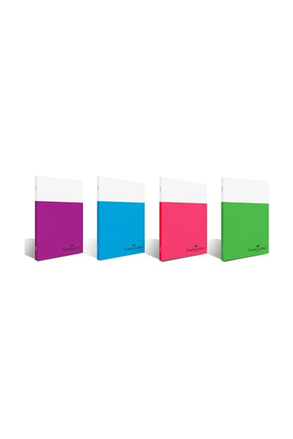 Faber-Castell A4 Kaye Stitched Notebook Smart Plastic Cover Striped 80 Sheets 5075000168 (12 Li Packet) 1100.88686