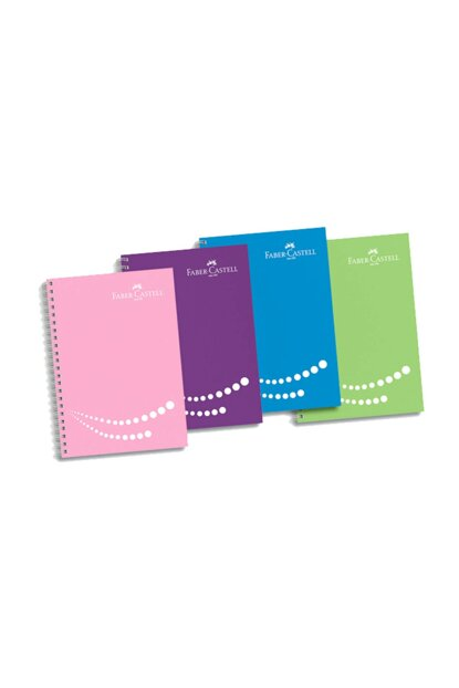 Faber-Castell Bracket Notebook 4 Section Colored Edge 100 Sheets Lined 5075400151000 1100.00251