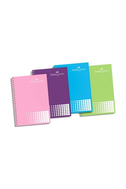 Faber-Castell A4 Spiral Notebook Plastic Cover Striped 120 Sheets Colored Edge 5075 400161 Assortment 1100.00253