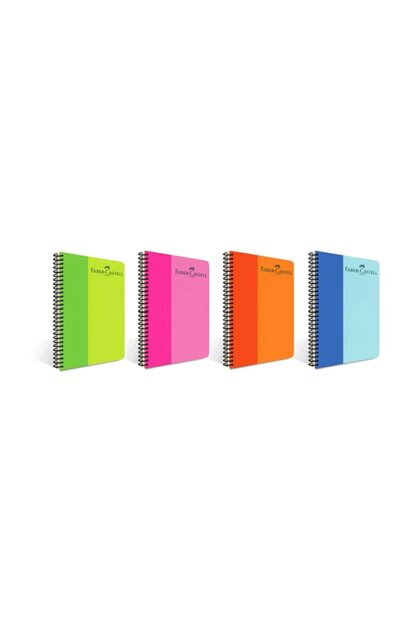 Faber-Castell A4 Spiral Notebook Bicolor Plastic Cover Unlined 160 Sheets 5075000141 1100.88824