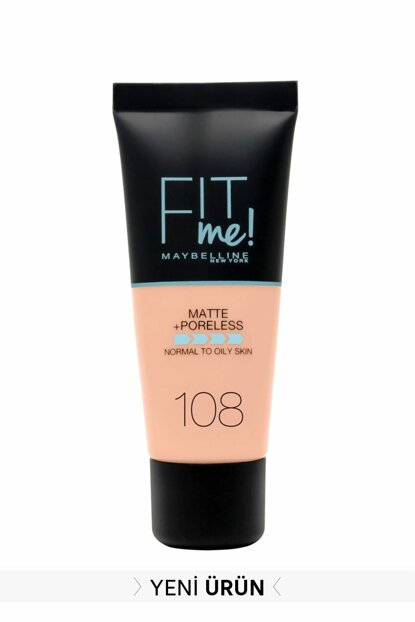 Matte Foundation - Fit Me Matte + Poreless Foundation 108 Rose Vanilla 3600531550967 FP502342N_FG