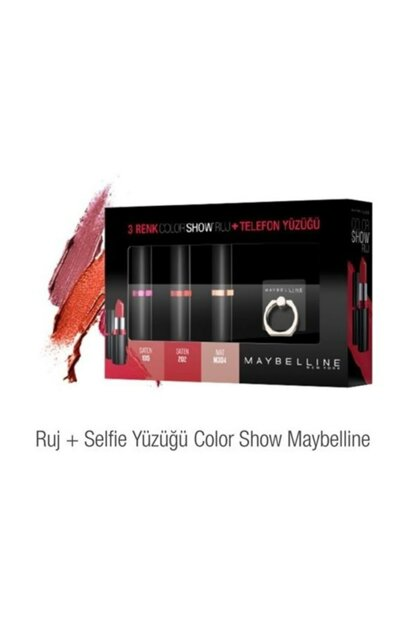 Maybelline 3 Color Color Show Lipstick + Phone Ring MYB0001