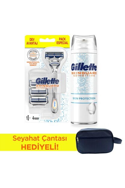 Skinguard Shaver + 4 in 1 Replacement + Skinguard Shaving Foam 250 ml (Bag Gifted) 8681002976528