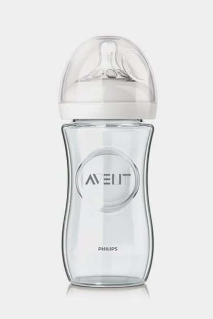 Natural Glass Feeding Bottle 1 Month + 240 ml Single / Scf673-17 8710103576631