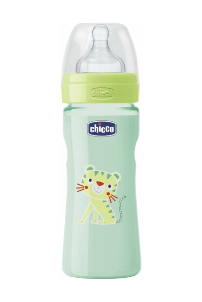 Wellbeing PP Colorful Feeding Bottle Unisex 2 Months + 250ml Silicone Flow Adjustable 00020623330000