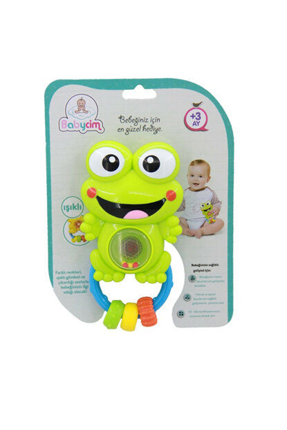 Rattle Lighted, Sound, Musical Frog WD-3661D-BABY