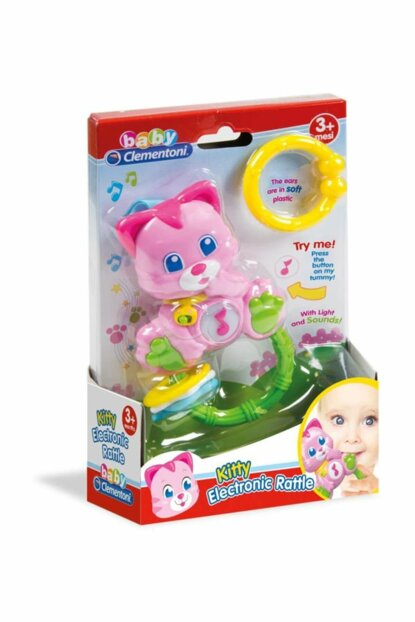 Rattle Baby Clementoni Cute Cat CLE17118