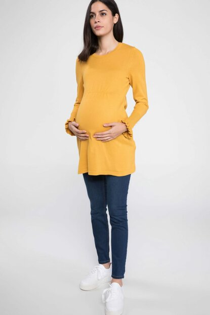 Pregnant Ruffle Detail Relax Fit Top Yellow K0112AZ.18WN.YL165