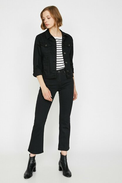 Women Black Trousers 0KAK47602MD