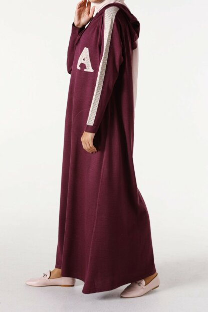 Women Plum Reglan Sleeve Dress with Pockets TG2355
