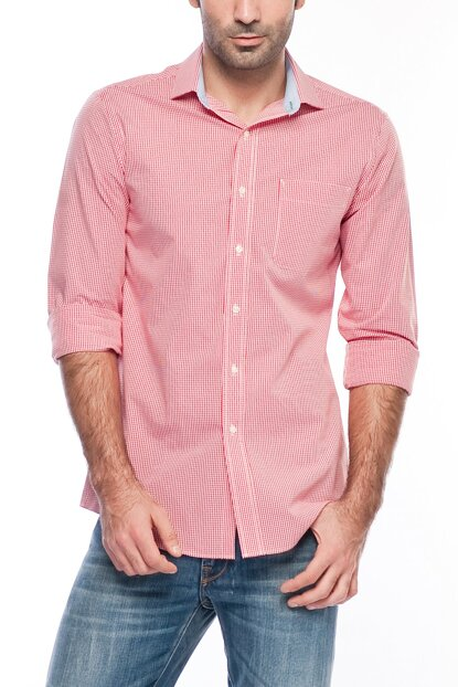 Red Men's Shirt 24F0523-600