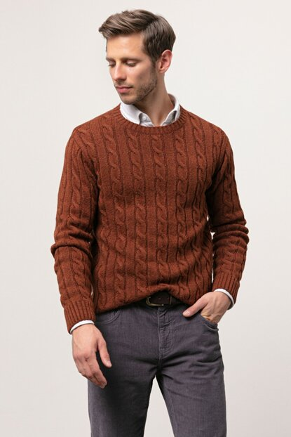 Men's Tile Braided Sweater 343853