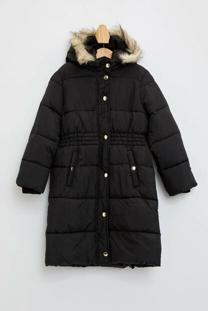 Hooded Long Coat K9390A6.19WN.BK27