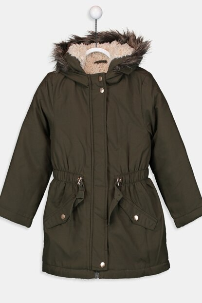 Girl's Outdoor Khaki Cwh Coat 9W6144Z4