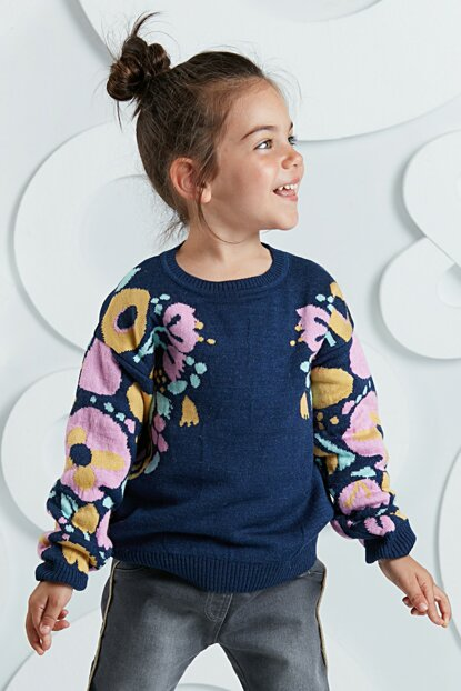 Flowers Girl Sweater Sweater OL-19S1-006