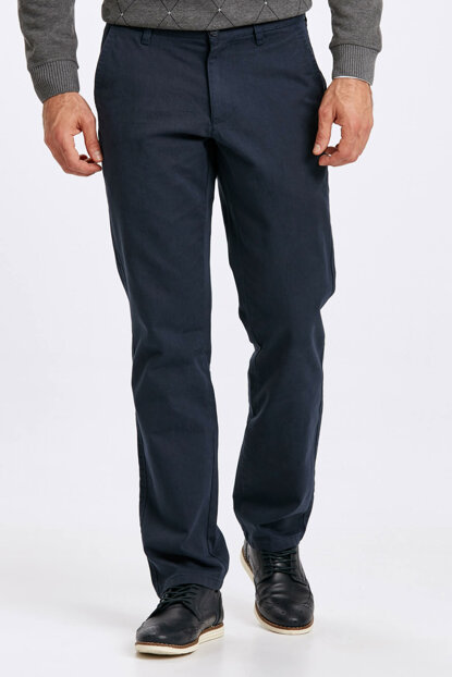 Men's Navy Blue Trousers 8W0887Z8