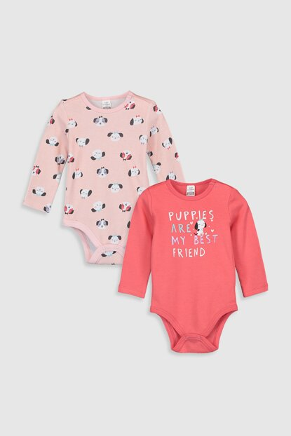 Baby Girl Coral Pu4 Snap on Body 2sets 9W8712Z1