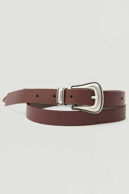 Women's Pomegranate Red Thin Cowboy Belt 09873310