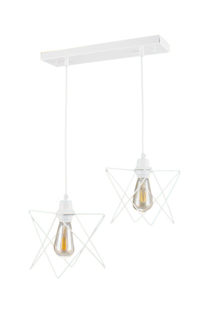 Mm-0306-2 2 pcs Pendant Lamp White Chandelier 0306-2 WHITE