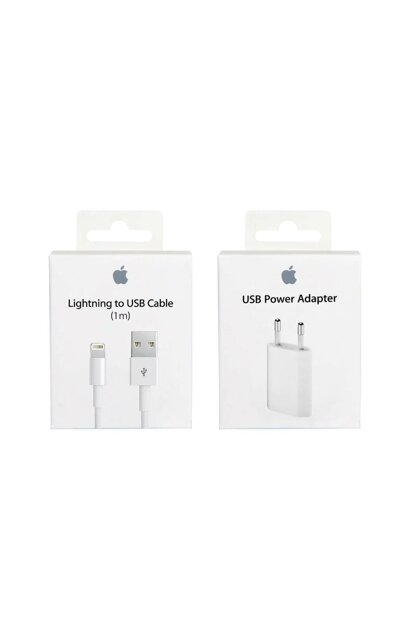 Lightning Charger and Header Set Original 1m (Importer Guaranteed) TM-Apple1mSet