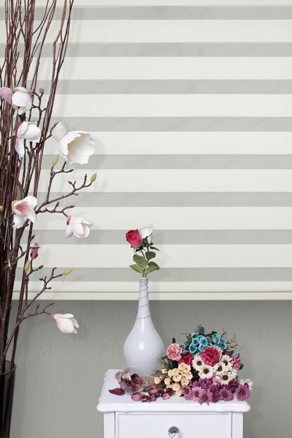 Zebra Roller Blinds Cream + Skirt Slice Gift Z-75V02