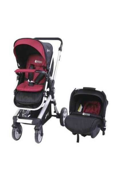 Star Baby Rabbit Two Way Travel System Baby Carriage Burgundy T38082