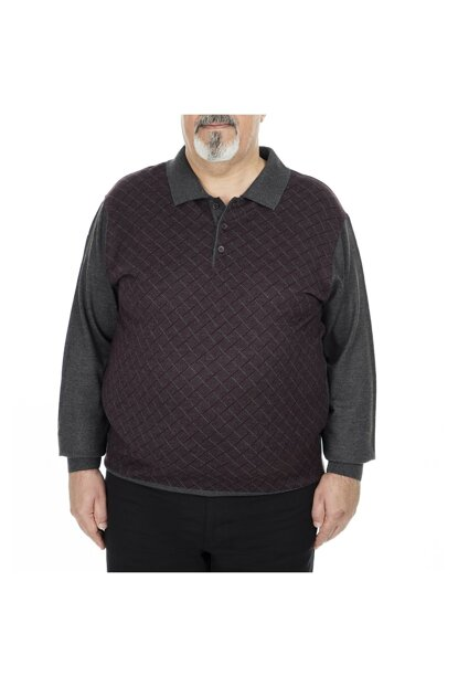 Plus Size Polo Pullover MEN SWEATER 518MOD4DESPYB
