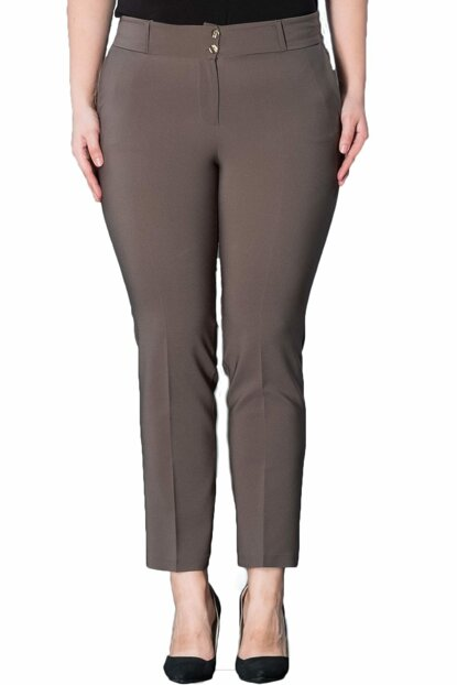 Women's Khaki Ankle Length Pants PT2136