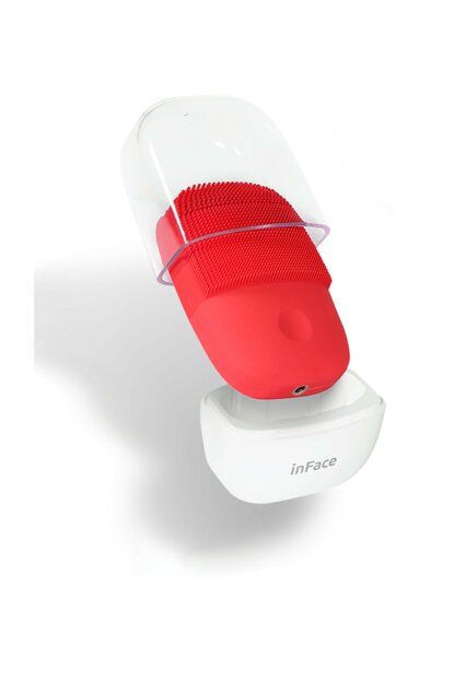 InFace Sonic Facial Cleansing and Massage Device - RED