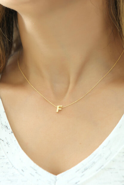 Women's 925 Sterling Silver Three-dimensional Letter Necklace Omr1310 OMR1310