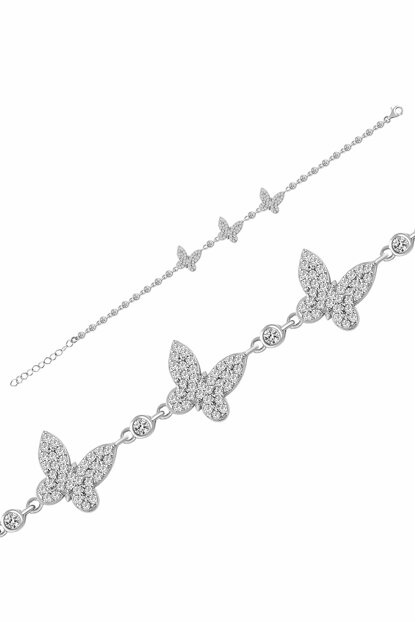 Women's Silver Color 925 Sterling Silver Butterfly Waterway Bracelet MA_BL_1138