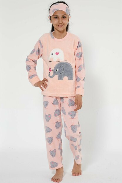 Girls Pink Well Soft Pajamas Set 4526